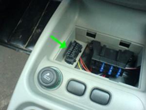 Диагностический разъем автомобиля Lada Granta