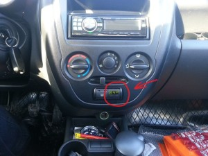 Расположение компьютера в авто