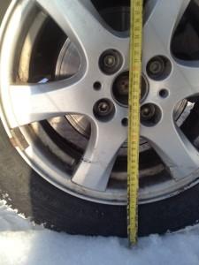 Замеры диаметра с целью выявления утечек