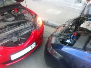 Прикуривание от другого автомомбиля